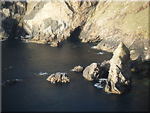 F8043 : Rocky outcrop in small inlet by David Precious