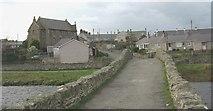 SH3568 : View westwards across the old bridge towards the village of Aberffraw by Eric Jones