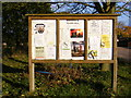 TM2653 : Bredfield Village Hall Notice Board by Adrian Cable