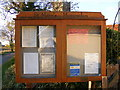 TM2358 : St Mary's Church Notice Board by Adrian Cable