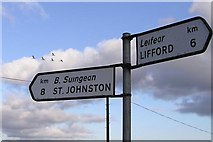 C3402 : Wild geese flying to St Johnston by Kenneth  Allen