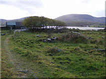 G7291 : Farm buildings at Ranny Point South, Derryness Townland by Mac McCarron