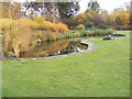TM1846 : Pond on The Lawns at The Millennium Cemetery by Adrian Cable
