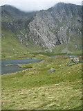 SH6459 : Llyn Idwal by Hugh Venables