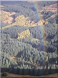 NX4677 : Rainbow above White Laggan Burn by Callum Black