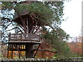 NH4689 : Tree house at Glencalvie Lodge by Stephen Middlemiss