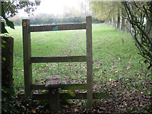 SJ8504 : Stile on a path beside Pendrell Hall by Row17
