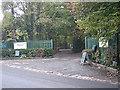 SJ8701 : Entrance to Keepers Lane Nursery by Row17