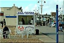 SZ9398 : Hot drinks & food stall The Esplanade Bognor Regis by P L Chadwick