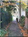 SZ0891 : Bournemouth: footpath B07 approaches Bourne Avenue by Chris Downer