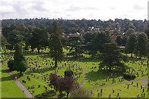 TQ2550 : Reigate Cemetery by Ian Capper