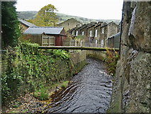 SE0125 : Cragg Brook as it passes under the viaduct by Alexander P Kapp
