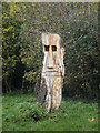 TL3762 : Tree sculpture in Dry Drayton High Street by Keith Edkins