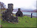 NM7127 : Ruin on the shore by Richard Dorrell
