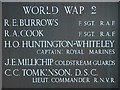SO8068 : Names on the War Memorial, Astley Cross by Philip Halling