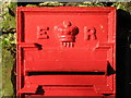 NZ0158 : Edward VII postbox, Healey - royal cipher by Mike Quinn