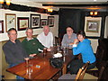 SO6539 : Geographers' meeting in the Trumpet Inn by Barman in the Trumpet