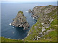 B6518 : Giant's Reek rock stack, Aran Island by Colin Park
