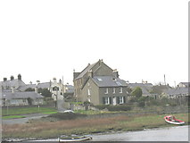 SH3568 : Capel Seion and the former manse from the opposite bank of Afon Ffraw by Eric Jones