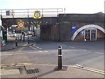 TQ7369 : Railway Bridge over Bryant Road by David Anstiss