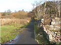 NS3874 : Footpath from the foreshore to Brucehill by Lairich Rig