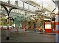 NZ2642 : Durham railway station platform by Steve  Fareham