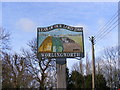 TM2268 : Worlingworth Village Sign by Adrian Cable