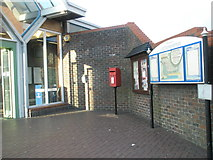TQ0202 : Postbox outside Littlehampton Station by Basher Eyre
