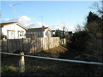 TQ0202 : Ditch behind mobile homes in Rope Walk by Basher Eyre