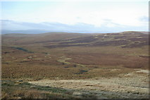 NS2659 : A view from Little Irish Law to the headwaters of Gogo Water by Leslie Barrie