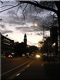 SZ0991 : Bournemouth: Christchurch Road, Lansdowne at dusk by Chris Downer