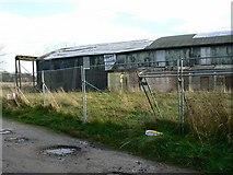 SU0571 : Disused hangar, Juggler's Lane, Yatesbury by Brian Robert Marshall