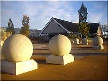 NJ9304 : Spheres in Duthie Park by Bob Embleton