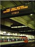 SX9193 : Information board, Exeter St David's station by Derek Harper