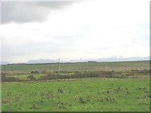 SH3568 : View eastwards across grazing land and the Aberffraw dunes by Eric Jones