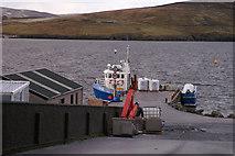 HU4349 : Pier at Wadbister by Mike Pennington