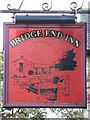 NZ0863 : Sign for the Bridge End Inn by Mike Quinn