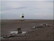 ST3050 : Old Wartime Defences at Burnham on Sea by Sarah Charlesworth