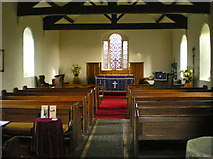 SD7656 : St Bartholomew Church, Tosside, Interior by Alexander P Kapp