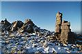 SO3698 : Manstone Rock by Dave Croker