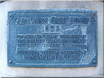 NS3975 : Plaque on Glencairn's Greit House by Lairich Rig