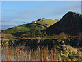 NY7166 : Quarry and Hadrian's Wall, Cawfields by Andrew Smith