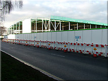 TL8364 : Bury St. Edmunds Asda: Roof in place by John Goldsmith