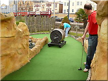 TG5307 : Cazy Golf Great Yarmouth Seafront by Andy Jamieson