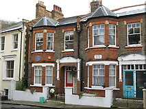 TQ2686 : Houses in Byron Villas, Vale of Health, NW3 by Mike Quinn