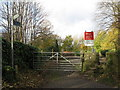 NY9265 : Level crossing on the Newcastle to Carlisle railway line near The Spital by Mike Quinn