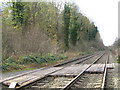 NY9265 : The Newcastle to Carlisle railway line near The Spital (2) by Mike Quinn