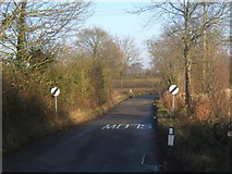 TM0249 : Lane leaving Naughton by Andrew Hill