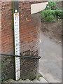 SJ4912 : Flood marker by the English Bridge by Stephen Craven