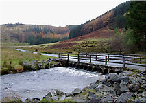 SN8355 : Irish Bridge crossing the Afon Irfon, Powys by Roger  Kidd